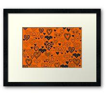 orange hearts Framed Print