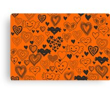 orange hearts Canvas Print