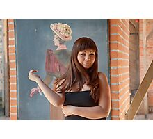 Beauty red-haired girl. Photographic Print