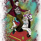 Elvis crazy ride Street Art by dashiner