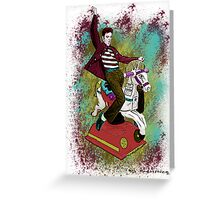 Elvis crazy ride Street Art Greeting Card