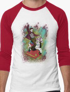 Elvis crazy ride Street Art Men's Baseball ¾ T-Shirt