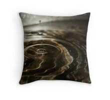 Water Dropping Throw Pillow