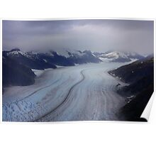 Glacier View from Helicopter Poster