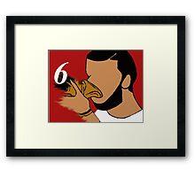 Drake 6 God Framed Print