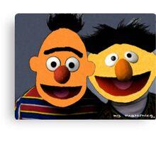 Bert and Ernie parallel universe Street Art Canvas Print