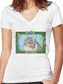 Sophie and the Mice Women's Fitted V-Neck T-Shirt