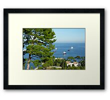 View From The Villa Framed Print