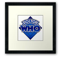 Doctor Who Diamond Logo Blue gradient. Framed Print