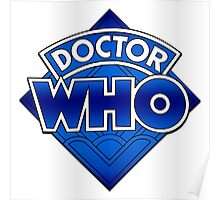 Doctor Who Diamond Logo Blue gradient. Poster