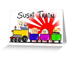 Sushi Train! Greeting Card