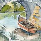 The boat in the Canal by Eva  Ason