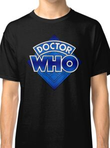 Doctor Who - Diamond Logo Blue gradient. Classic T-Shirt