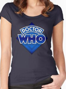 Doctor Who - Diamond Logo Blue gradient. Women's Fitted Scoop T-Shirt