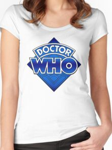 Doctor Who Diamond Logo Blue gradient. Women's Fitted Scoop T-Shirt