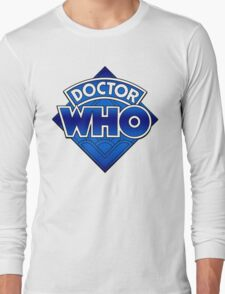 Doctor Who Diamond Logo Blue gradient. Long Sleeve T-Shirt