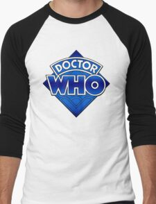 Doctor Who Diamond Logo Blue gradient. Men's Baseball ¾ T-Shirt