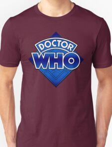 Doctor Who Diamond Logo Blue gradient. T-Shirt