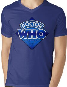 Doctor Who - Diamond Logo Blue gradient. Mens V-Neck T-Shirt