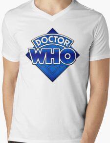 Doctor Who Diamond Logo Blue gradient. Mens V-Neck T-Shirt