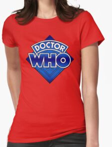 Doctor Who Diamond Logo Blue gradient. Womens Fitted T-Shirt