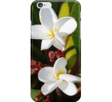 Two Little White Flowers.. iPhone Case/Skin