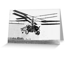 Helicopter Invention Greeting Card