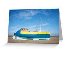 Colour boat Greeting Card