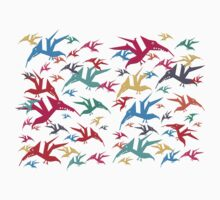 Multi flavoured Pterodactyls Baby Tee