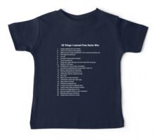 25 Things I've Learned from Doctor Who Baby Tee