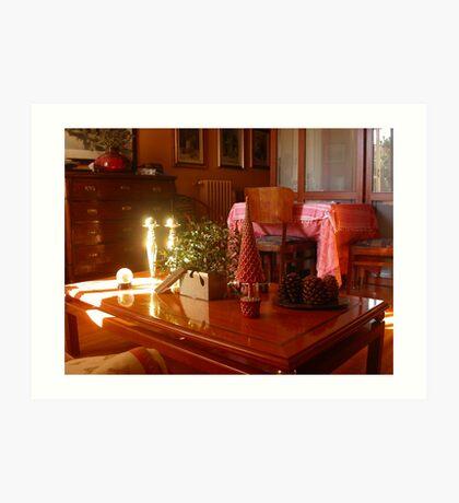 Un raggio di sole...un ramo di vischio...un tavolino. 2500 visualizzaz a gennaio 2013...FEATURED RB EXPLORE 1 NOVEMBRE 2011... Art Print