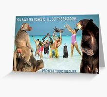 Protect The Wildlife Greeting Card