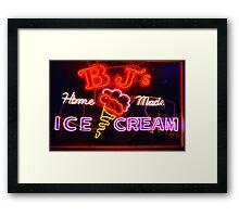 BJ's Ice Cream Shop Framed Print