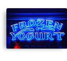 Frozen Yogurt Canvas Print