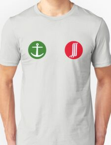Green Anchor, Red Waterfall T-Shirt