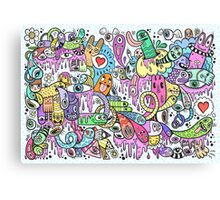 Coloured Creatures In My Head Canvas Print
