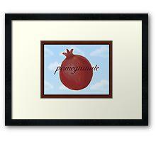 Surrealist Pomegranate Framed Print