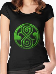The Seal of Rassilon--Arcalian Women's Fitted Scoop T-Shirt