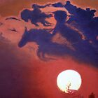 """""""Sunset Steeplechase"""" by Cindy Longhini"""