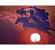 """Sunset Steeplechase"" Photographic Print"