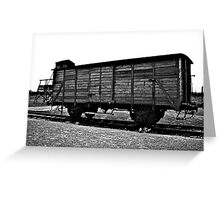 Carriage at Auschwitz Greeting Card