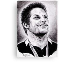 Richie McCaw - All Blacks Captain 2011 Canvas Print
