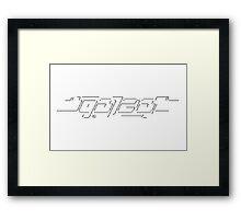 """Galza"" lettering Framed Print"