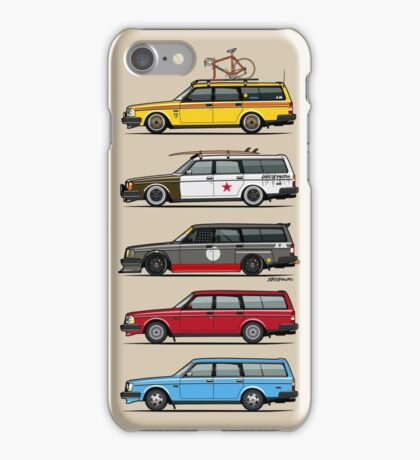 Stack of Volvo 200 Series 245 Wagons iPhone Case/Skin