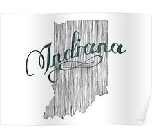 Indiana State Typography Poster