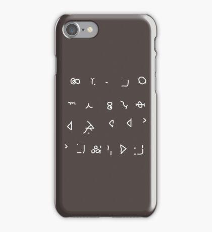 Hello Sweetie (Old High Gallifreyan) iPhone Case/Skin