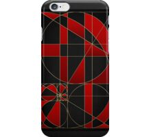 The Alchemy - Divine Proportions - Red on Black iPhone Case/Skin