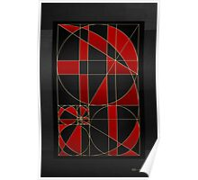 The Alchemy - Divine Proportions - Red on Black Poster