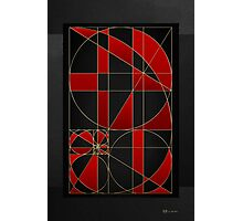 The Alchemy - Divine Proportions - Red on Black Photographic Print