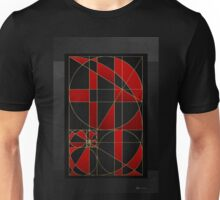 The Alchemy - Divine Proportions - Red on Black Unisex T-Shirt